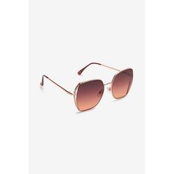 Next Sonnenbrille Sechseckige Sonnenbrille aus Metall