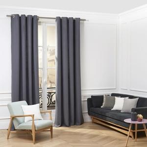 MADURA Ösenvorhang, Aubin, graublau, 200 x 280 cm