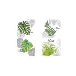 HTI-Line Glasuntersetzer Untersetzer 4-tlg Leaf, 4-teilig, 4-tlg., Untersetzer