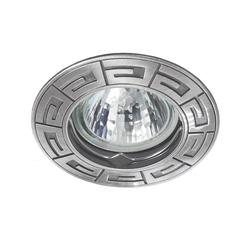 Einbaustrahler RODOS, rund, Alu Druckguss, 85mm, Satinnickel