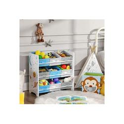 SONGMICS Aufbewahrungsbox GKR33WT, Kinderzimmerregal, Spielzeug-Organizer, weiß