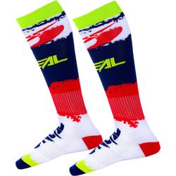 Oneal Pro Revit Motocross Socken, rot-blau