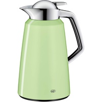 Alfi Kaffeekanne Vito, Thermoskanne Metall grün 1L, mit alfiDur Glaseinsatz, 1611.281.100, Isolierkanne hält 12 Stunden heiß, ideal für Kaffee oder Teekanne, Kanne für 8 Tassen