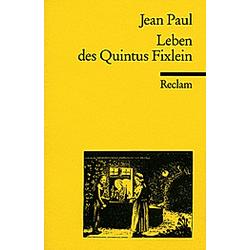 Leben des Quintus Fixlein. Jean Paul  - Buch