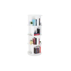 relaxdays Bücherregal Drehbares Bücherregal mit 12 Fächern
