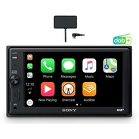 Sony XAV-AX1005KIT DAB+ Media Receiver, Touchscreen 6,2 Zoll, mit Bluetooth und Apple CarPlay und DAB+ Antenne inklusive