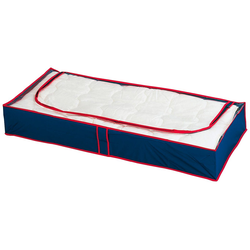 WENKO Unterbettkommode WENKO Unterbettkommode Blau-Rot, 8er Set blau
