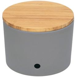 Magu Vorratsdose Magu Knoblauchtopf Design Silber, Bambus Maisstärke