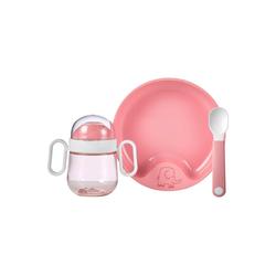 Mepal Kindergeschirr-Set Mio Babygeschirrset deep pink 3-teilig (3-tlg)