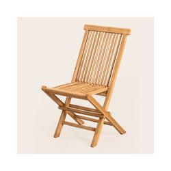 Lot de 2 chaises de jardin pliantes en bois de teck Pira Bois de Teck bois de teck - bois de teck
