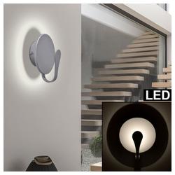 näve Wandleuchte, LED Wand Strahler Lampe rund ALU Wohn Zimmer Treppen Haus Strahler Leuchte grau Näve 1176259