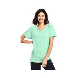 Langes Shirt mit Zierborte, Damen, Größe: XS Normal, Grün, Baumwolle Modal, by Lands' End, Frühlingsgrün - XS - Frühlingsgrün