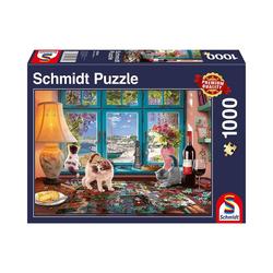 Schmidt Spiele Puzzle Puzzle 1000 Teile Am Puzzletisch, Puzzleteile