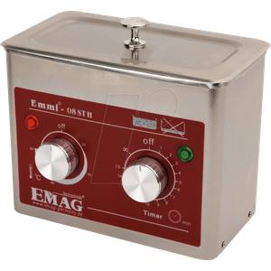 EMMI 08 ST H - Ultraschallreiniger, 0,75 l , 60 W, mit Heizung, Edelstahl
