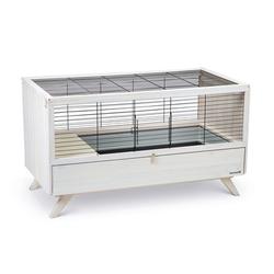 Kaninchenkäfig für Drinnen, 120 x 64,5 x 71,5 cm, weiss