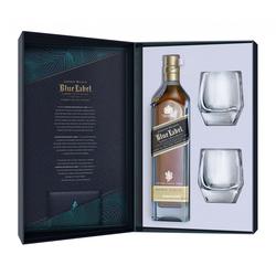 Johnnie Walker Blue Label mit 2 Kristallgläsern Geschenkbox