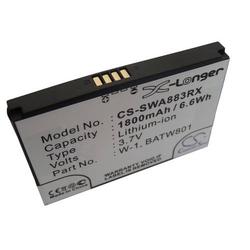 vhbw Li-Ion Akku 1800mAh (3.7V) für mobile Hotspot Router Alcatel 753S, 754S, Netgear Aircard AirCard 778S wie 1201883, BATW801, W-1.