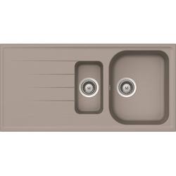 RESPEKTA Einbauspüle ORLANDO1.5B, eckig grau