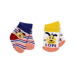 Zapf Creation® Puppenkleidung BABY born® Socken 2x, 43 cm, hellblau gelb