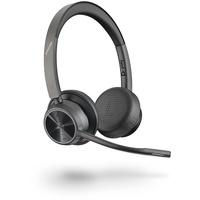 Plantronics Poly Voyager 4320 UC Kopfhörer Kopfband USB Typ-A Bluetooth Schwarz