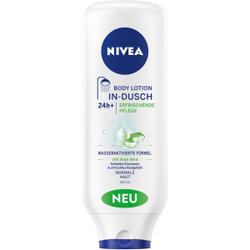 NIVEA Body In-Dusch Body Lotion Feuchtigkeitspflege, Duschpflege-Milch mit Aloe Vera für normale Haut , 400 ml - Flasche