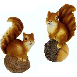 I.GE.A. Tierfigur »Eichhörnchen« (Set, 2 Stück), Dekofiguren, 11759526-0 braun braun