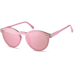 styleBREAKER Sonnenbrille Monoglas Sonnenbrille Verspiegelt rosa