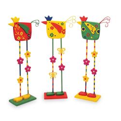 Small Foot Dekofigur Deko-Vögel 3er Set, Holz Dekofiguren