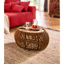 SIT Couchtisch Rattan Vintage beige Couchtische rund oval Tische Tisch