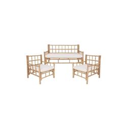 BUTLERS Sitzgruppe LOMBOK Sofa & 2 Sesseln mit Sitzkissen