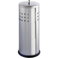 WENKO Ancona Toilettenpapier-Ersatzrollenhalter, Geschlossener Ersatzrollenhalter für 3 Toilettenpapierrollen, 1 Stück, matt