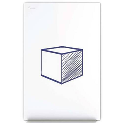 Whiteboard SkinWhiteboard 75x115cm weiß