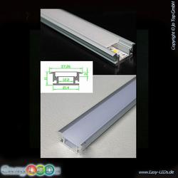 LED Aluminium Profil 2m Bodeneinbau IP44