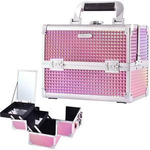 Kosmetikkoffer Schminkkoffer, Kosmetiktasche Kosmetikkoffer groß Multikoffer Etagenkoffer, Kosmetik Organizer (Z-Rosa)...