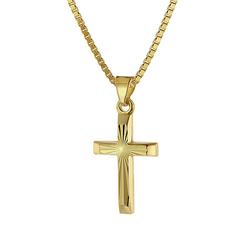 Halskette mit Kreuz Kinder Gold 333/8 Karat Halsketten gold Gr. 38,0  Kinder