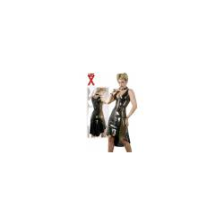 Latex Kleid DITA schwarz/rauch