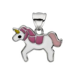 JOBO Kettenanhänger Einhorn, 925 Silber