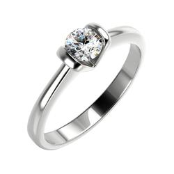 Verlobungsring aus Gold im Solitärstil mit Diamant Paxly