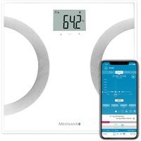 Medisana BS 450 Connect Körperanalysewaage Wägebereich (max.)=180 kg, Personenwaage zur Messung von Körperfett, Körperwasser, Muskelmasse und Knochengewicht, K
