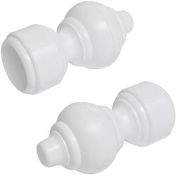 Gardinenstangen-Endstück, Liedeco, Gardinen, (Set, 2-St), für Gardinenstange Ø 28 mm weiß