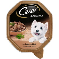 Cesar Landküche Mini Filets in Sauce mit Pute & Rind 14 x 150 g