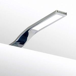 LED Aufbauleuchte Schrankleuchte Schrankbeleuchtung Vitrinenbeleuchtung Bad SET, Auswahl:1er SET, Lichtfarbe:tageslichtweiss, Oberfläche:verchromt
