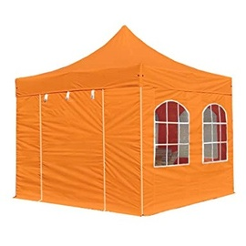 TOOLPORT Faltpavillon 3 x 3 m inkl. Seitenteile orange (578803)