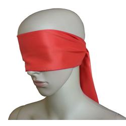 Bondage Stoff Augenschal Augenbinde rot