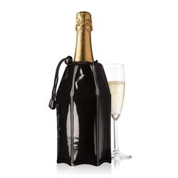 VACUVIN Wein- und Sektkühler Aktiv Schwarz, Aktiv-Kühlmantel schwarz