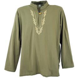 Guru-Shop Hemd & Shirt Yoga Hemd bestickt, Goa Shirt, besticktes.. XL