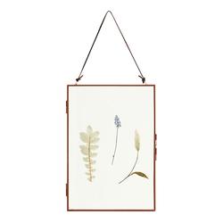 Nordal Meta Rahmen mit getrockneten Blumen vertikal dunkelrot