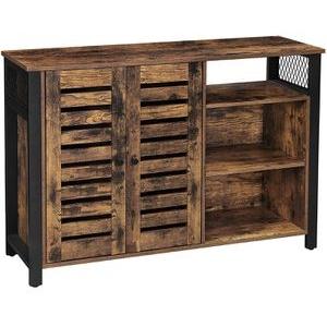 Vasagle Sideboard LSC083B01 , braun, vintage, mit Türen und Regal, Maße: 135 x 70cm