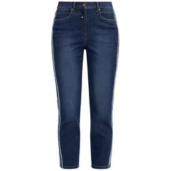 Jeans mit Galonstreifen RECOVER Pants Denimblau