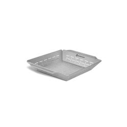 BURNHARD Grillplatte Gemüsekorb, Edelstahl, Grillkorb 35,5x30x5,5 cm Grillkorb 35,5x30x5,5 cm - 30 cm x 5.5 cm x 35.5 cm